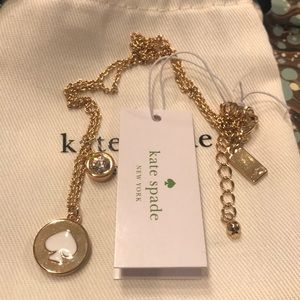 Kate spade spot the spade necklace new!